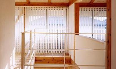 『ドームのある家』〜天体観測もできる!人にも環境にも優しい家づくり〜 (明るいリビングの吹き抜け部分)