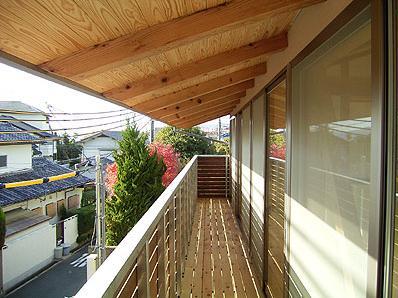 『ドームのある家』〜天体観測もできる!人にも環境にも優しい家づくり〜の部屋 風が抜けるバルコニー