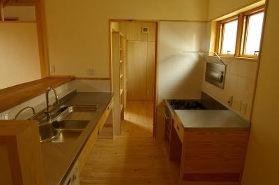 キッチン 食品庫 (若葉の家)