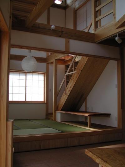 畳スペース (愛犬と暮らす 木の家)