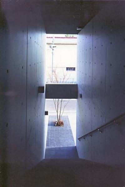 『Sレジデンス』〜シンプルさと回遊性を重視した賃貸併用住宅〜 (玄関アプローチ)