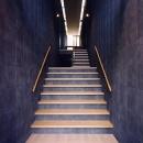 玄関より 2枚の大壁の階段室