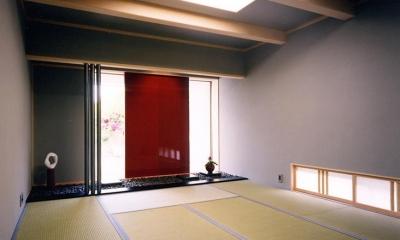 シンプルな和室 『I-house』〜垂直・水平のラインの美しさを表現した住まい〜