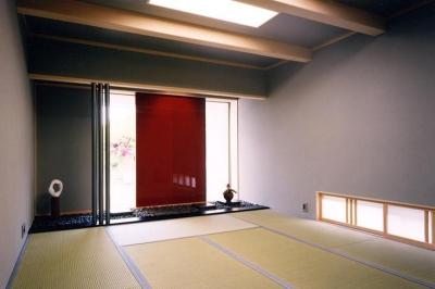 『I-house』〜垂直・水平のラインの美しさを表現した住まい〜 (シンプルな和室)