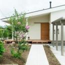 大きな一枚屋根の家-外観