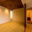 大きな一枚屋根の下で  −保田のN-Houseの写真 可動間仕切りの和室