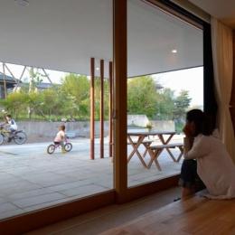 風景に住む  −小諸のK-House (子供を近くに感じられる住まい)