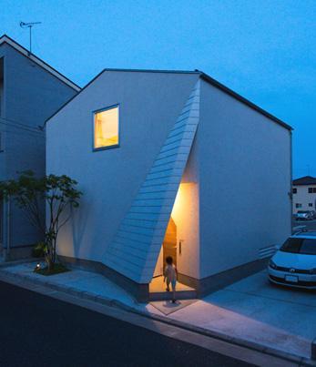 建築家:徳本賢洛「南笹口の家 〜斜め壁のある家〜」