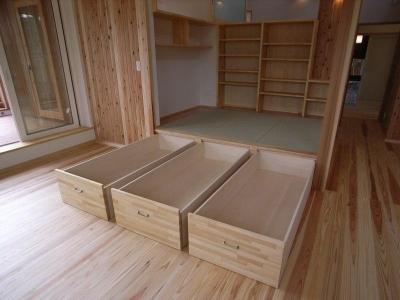 『上町の家』〜格子戸で囲まれた温かな住まい〜 (大容量の畳下収納)
