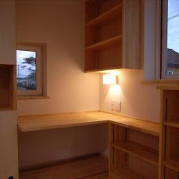 『上町の家』〜格子戸で囲まれた温かな住まい〜-奥様の家事コーナー