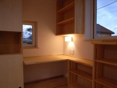 奥様の家事コーナー (『上町の家』〜格子戸で囲まれた温かな住まい〜)