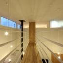 『hoshizora』〜ヒカリとアカリが楽しめる家〜の写真 橋のような廊下・星のような照明