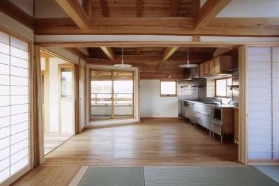 キッチン (シニア世代の木の家)