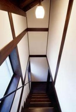 『富士宮の家』〜箱階段のある家〜 (落ち着いた雰囲気の箱階段)
