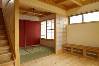 茶室 (二世帯の木の家)