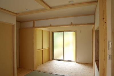 お父さんの寝室 (二世帯の木の家)