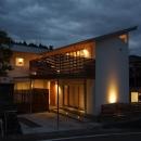 自然素材の2世帯住宅外観