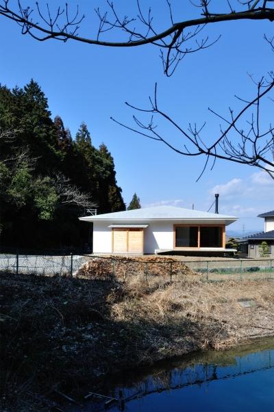 池田町の平屋 (外観1)