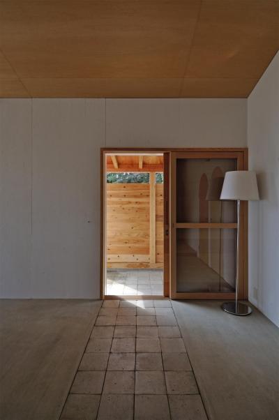 池田町の平屋 (玄関)