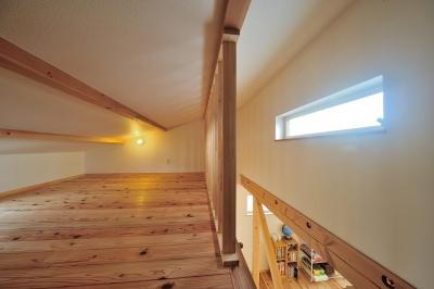 越屋根部分のロフト-2 (『フリークライマーズ ハウス』〜子供が成長できる夢の住まい〜)