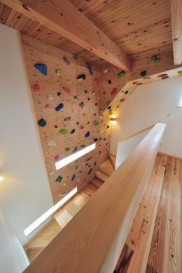 『フリークライマーズ ハウス』〜子供が成長できる夢の住まい〜 (フリークライミングができるホール-1)