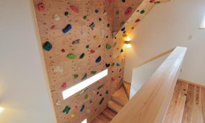 フリークライミングができるホール-1|『フリークライマーズ ハウス』〜子供が成長できる夢の住まい〜