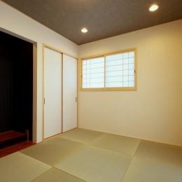 『スクエアハウス』〜大きな吹き抜けのある開放的な住まい〜 (和室)
