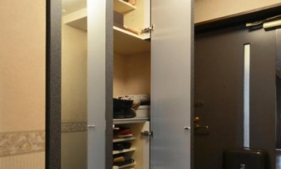 玄関収納-open|Y邸・自分好みにカスタマイズするマンションリフォーム