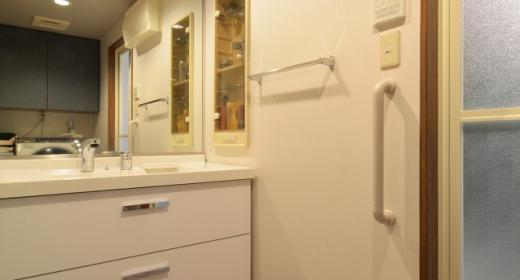 Y邸・自分好みにカスタマイズするマンションリフォームの写真 洗面所