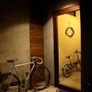 自転車の置ける広々玄関