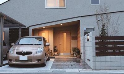 シルエットの美しい外観|『南加木屋の住宅』〜シルエットの美しい木造2階建住宅〜