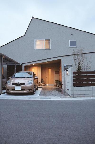 『南加木屋の住宅』〜シルエットの美しい木造2階建住宅〜 (シルエットの美しい外観)