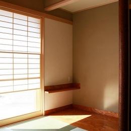 『南加木屋の住宅』〜シルエットの美しい木造2階建住宅〜 (明るい和室)