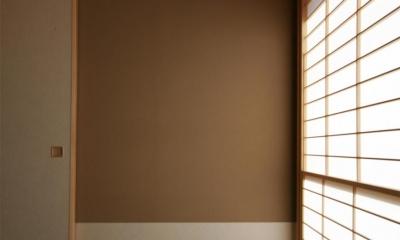 和室・温かみを与える壁 『南加木屋の住宅』〜シルエットの美しい木造2階建住宅〜