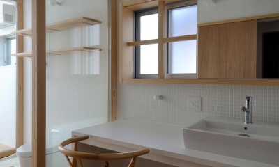 柳瀬の家 (洗面)