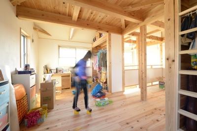 子供部屋 (市ノ川の家 大きな堀座卓の家)