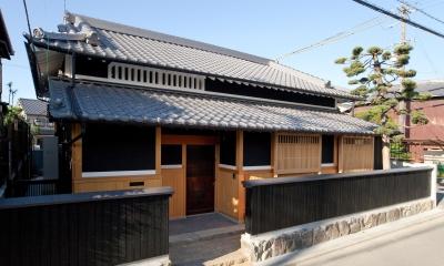 『姫路の家』古民家再生と米蔵の曳家 (外観)