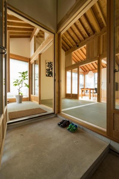 稲荷町の家 〜畳廊下のある家〜 (土間より広間みる)