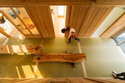 稲荷町の家 〜畳廊下のある家〜 (広間の風景)