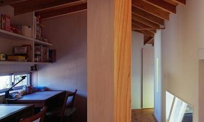 『塩河の家』〜里山の風景と暮らす家〜 (子供達のワークスペース)