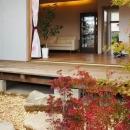 フルオープンテラスと庭