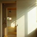 光の集まる階段ホール