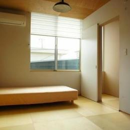 『Danti House』〜光の集まる住まい〜 (和室のベッドルーム)