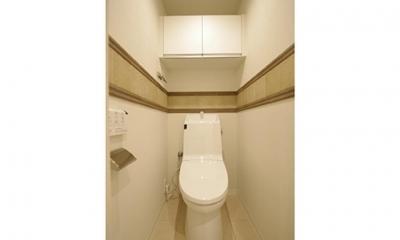 細部までこだわったデザインで上質感を演出 (トイレ)