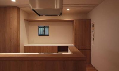 ダイニングキッチン|建具の壁