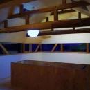 北欧照明がアクセントの2階スペース