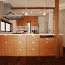 オリジナルのオープンキッチン