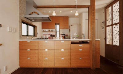 S邸・家族の笑顔がつながるオープンキッチン (オリジナルのオープンキッチン)