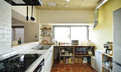 K邸・ビンテージマンションを自分色に (対面式キッチン)