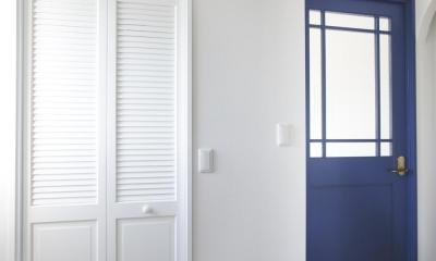 S邸・二人のベビーのために、安心で快適な住まい (ナチュラルな明るい玄関)
